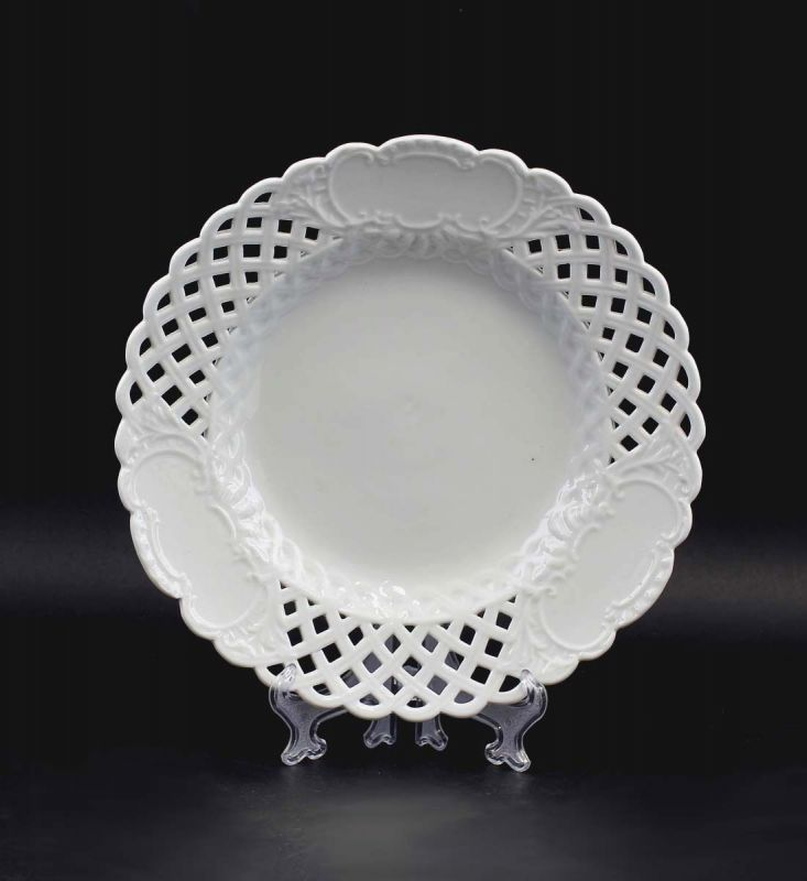 8340107 Porzellan Durchbruchteller Marcolini Meissen