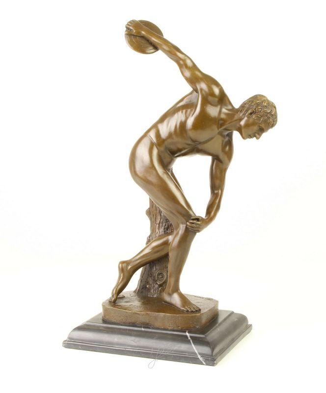 Bronze Skulptur Diskobol von Myron Diskuswerfer Figur Akt neu 99937986-dss