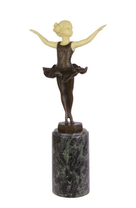 Bronze/Resin Skulptur Mädchen kleine Ballerina neu 9973318-dssp