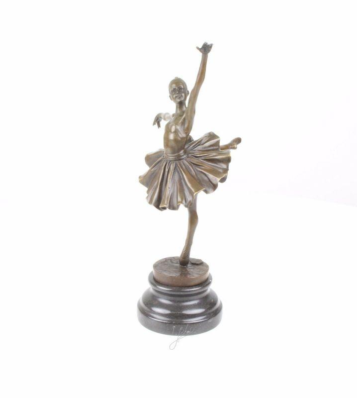 Bronze Skulptur junge Ballerina Arabesque neu 9973436-dss