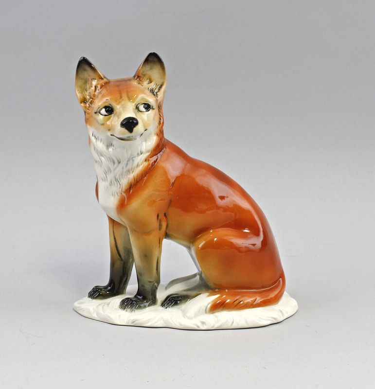 Porzellan Figur Listiger Fuchs Ens 17,5x9x21,5cm 9941398
