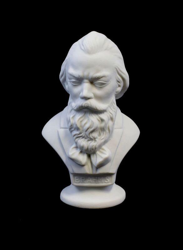 9942311 Porzellan Büste Brahms Bisquit Wagner & Apel H15,5cm