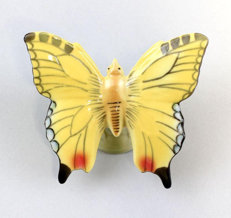 9942325 Porzellan Figur gelber Schmetterling Wagner & Apel 7x6x4cm