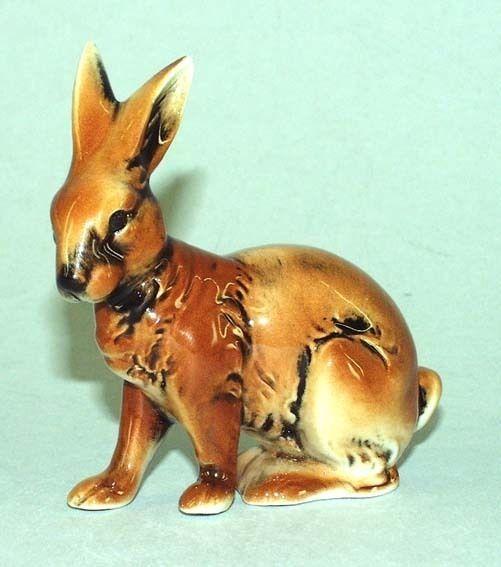 9942192 Porzellan-Figur Kleiner Hase Kaninchen Wagner & Apel 8x8cm