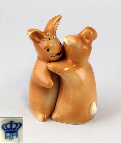 9942205 Porzellan Wagner & Apel Salz und Pfeffer Streuer-Paar Hasen H8cm