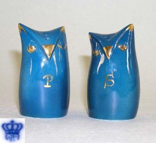 9942016 Wagner & Apel Porzellan Salz und Pfeffer Streuer Design Eulen H7cm