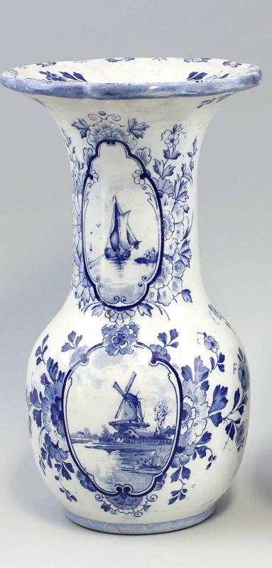 99845095 Keramik Vase Holländerdekor H30cm