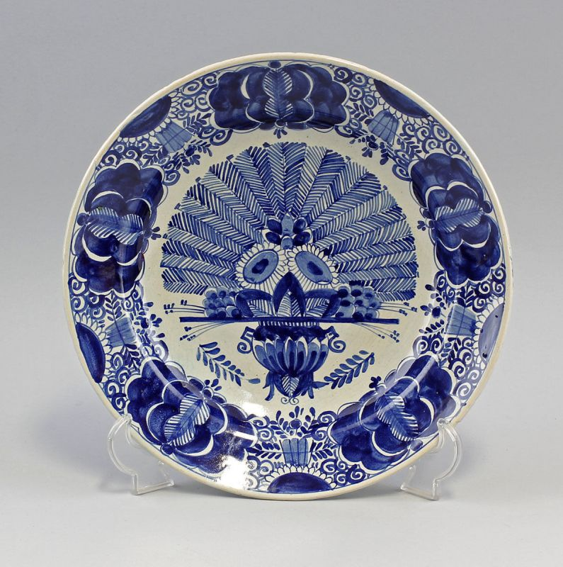 99845084 Keramik Große Schale Blaudekor