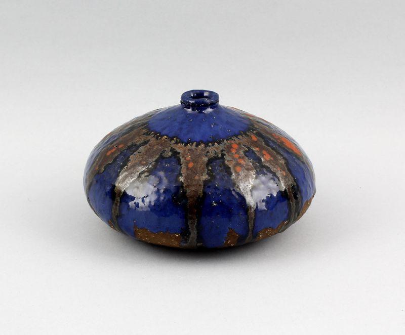 99845105 Keramik Laufglasur-Vase Jugendstil  um 1920/30