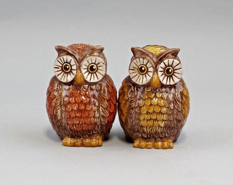 Paar Streuer Eulen Keramik H9cm 9976070
