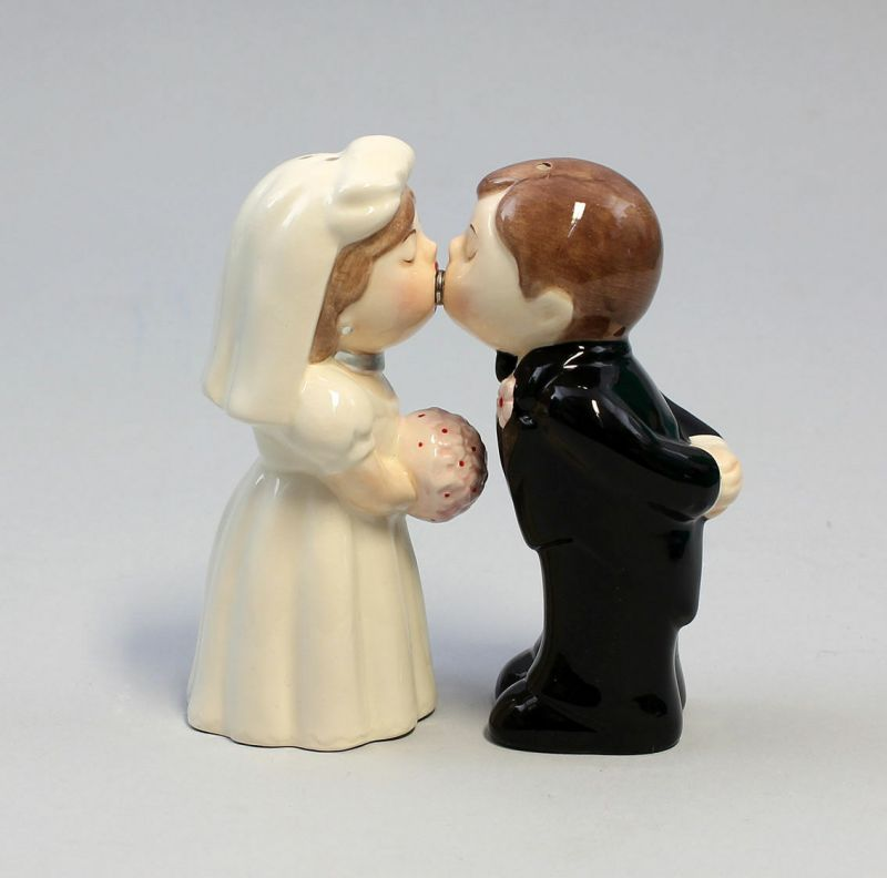 9976029 Salz/Pfeffer Bride and Groom Streuer Braut-Paar H8cm