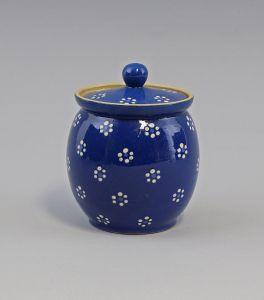 99845485 Keramik Deckeldose Zuckerdose Vorratsdose Dose Bürgel Thüringen H13cm