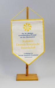 9990137 DDR Wimpel 20 Jahre Kampf Kollektiv Deutsch-Sowjetische Freundschaft DSF