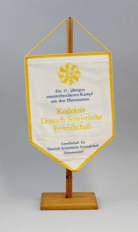 DDR Wimpel 15 Jahre Kampf Kollektiv Deutsch-Sowjetische Freundschaft DSF 9990135