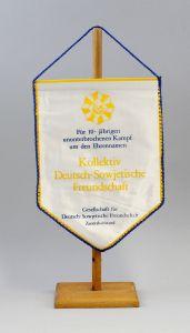 9990134 DDR Wimpel 10 Jahre Kampf Kollektiv Deutsch-Sowjetische Freundschaft DSF