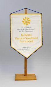 9990133 DDR Wimpel 20 Jahre Kampf Kollektiv Deutsch-Sowjetische Freundschaft DSF