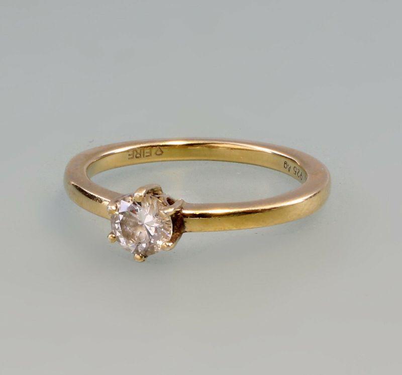 Vergoldeter Zirkonia-Ring 925er SIlber Gr. 69 99825331