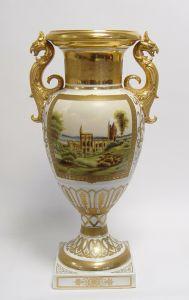 9937499-dss Porzellan Vase zweihenkelig H55cm
