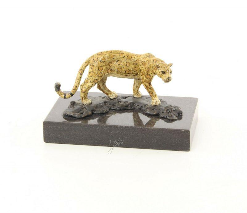 9973488-dss Bronze Skulptur Figur Jaguar 7x8x13cm