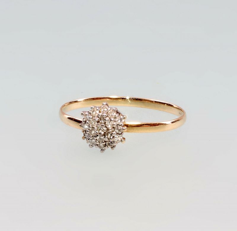 8325178 Brillant-Ring 750er GG/WG Gold Gr. 59/60
