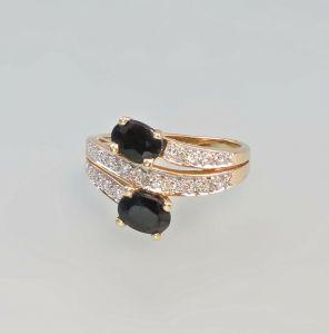 8325194 Saphir-Brillant-Ring 585er Gold Gr. 57
