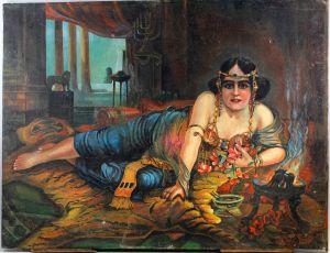 99860176 Ölgemälde signiert Raffay Orientalische Tänzerin Exotika 20er Jahre
