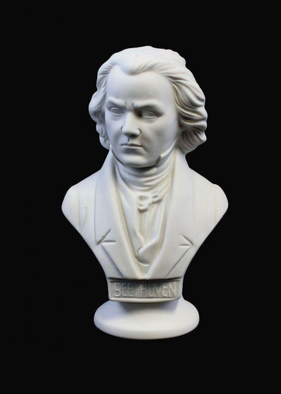 9942310 Porzellan Figur Wagner&Apel Büste Beethoven weiß bisquit H15cm