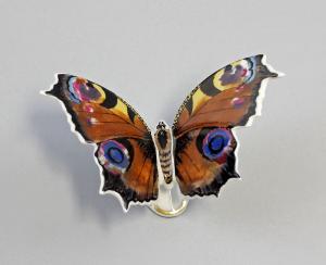 Schmetterling Falter groß Pfauenauge Kämmer 10x7x7cm 9944138