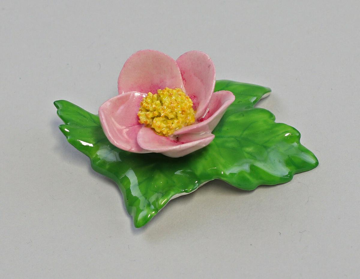9959616 Porzellan Figur Tischblume Wild- Rose gelb purpur Ens 7x5x3cm