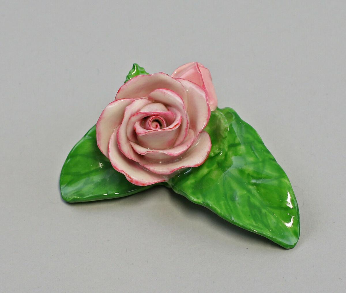 9959612 Porzellan Figur Tischblume Rose Knospe rose Ens 6,5x5x3cm