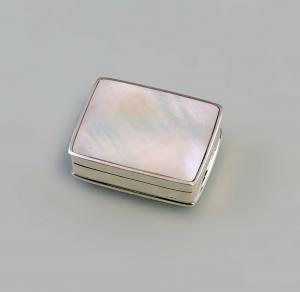 9927535 925er Silber silberne Perlmutt-Pillen- Dose