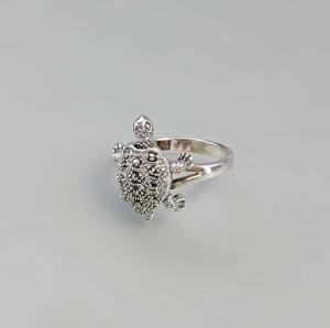 9927442 925er Silber Markasit-Ring Schildkröte Gr. 56