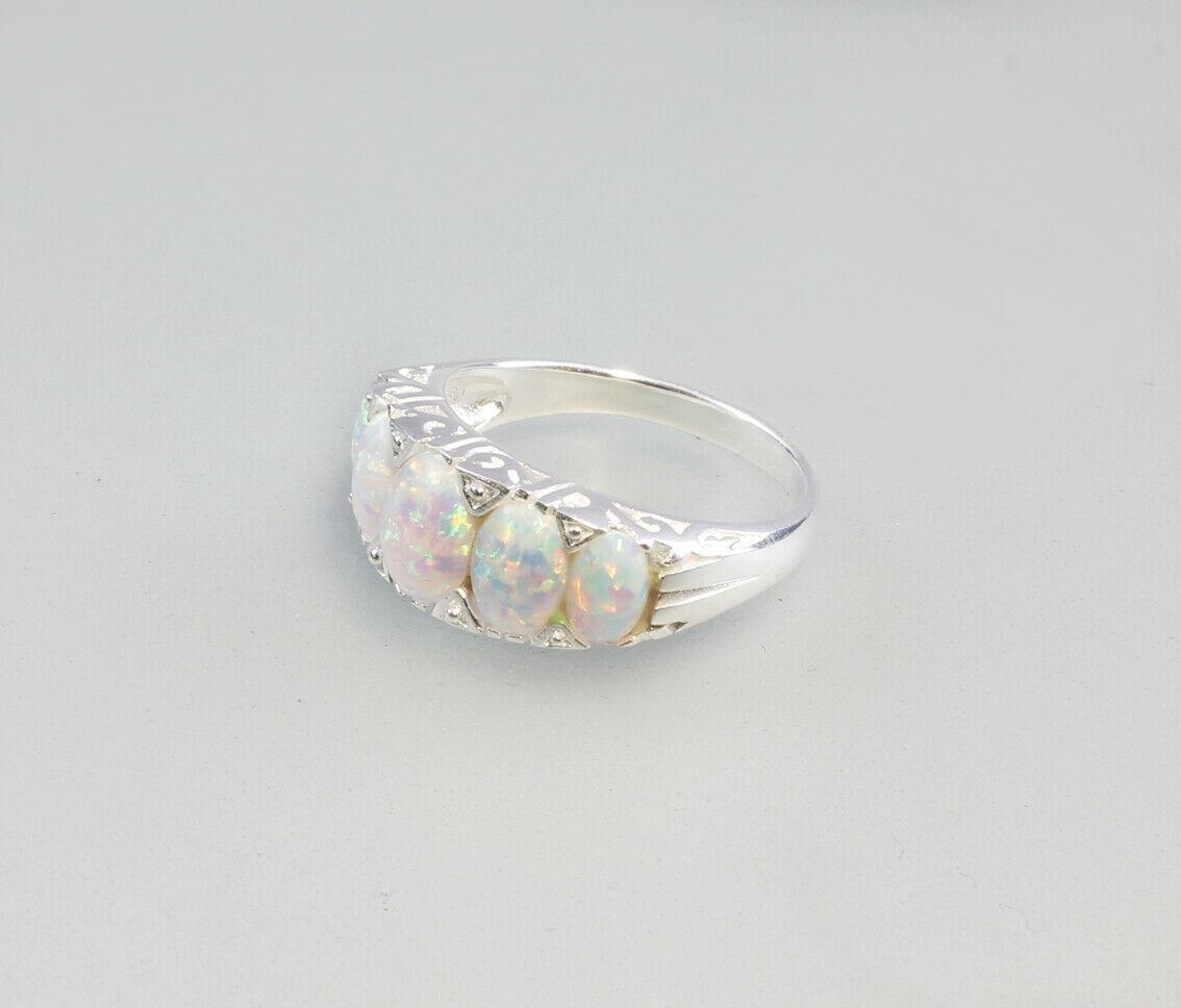 9907147 925er Silber Ring mit Opal Gr. 54