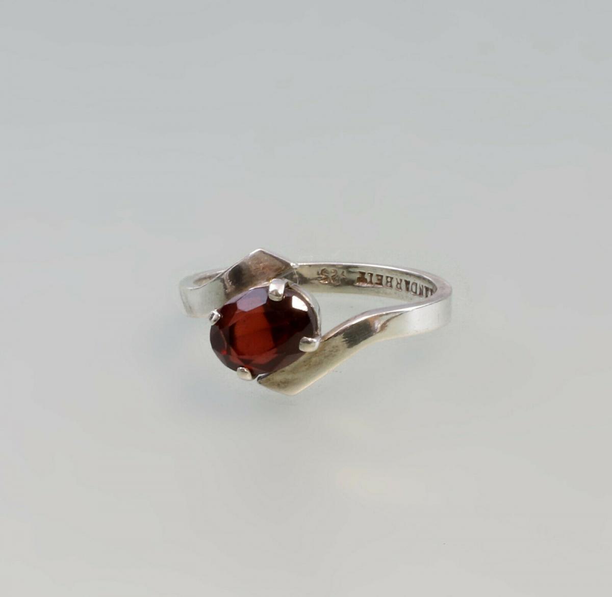 99825505 Granat-Ring 925er Silber Gr.55