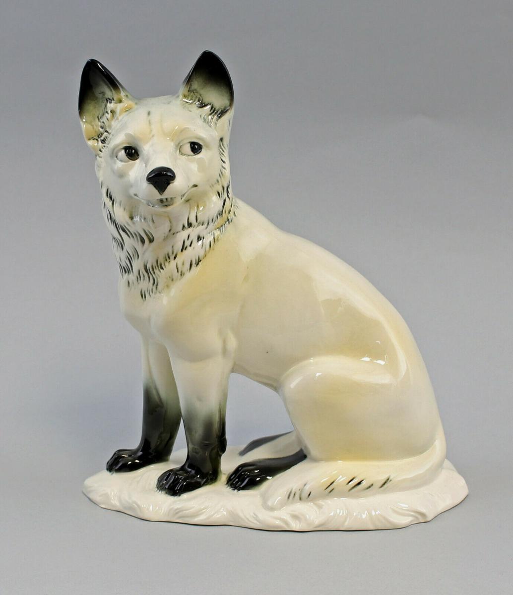 9959478 Porzellan Figur Polar- Fuchs Ens 17,5x9x21,5cm