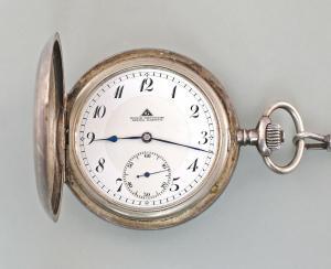 8420001 Silberne Sprungdeckeluhr Savonette Taschenuhr Glashütte 1920-25