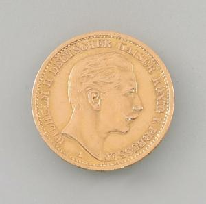 8408006 Goldmünze 20 Mark Deutsches Reich Preussen 1908