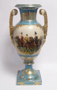 9973516-dss Zweihenklige Porzellan Vase mit Deckel Deckelvase H55cm neu
