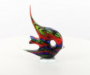 9973557-dss Glas Figur Murano Stil Angelfisch 29x9x25cm neu