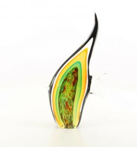 9973553-dss Glas Figur Murano Stil Angelfisch 36x6x20cm neu