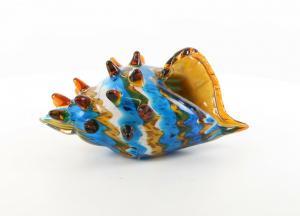 9973550-dss Glas Figur Murano Stil Muschelhorn 15x19x30cm neu