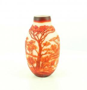 9973540-dss Glas Cameo Baluster Vase Elefant 17x30cm neu