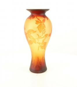 9973524-dss Glas Cameo Vase Kolibri 20x45cm neu