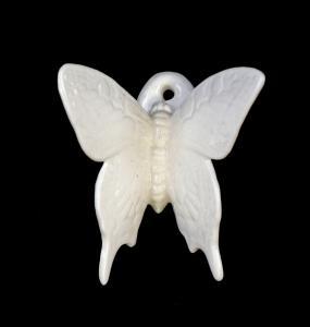9959523 Porzellan Wand-Schmetterling weiß Ens