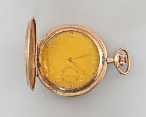 8420006 Vergoldete Savonette Sprungdeckel-Taschenuhr um 1930