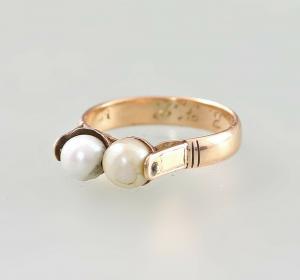 8425046 585er RG Gold Perlen Ring Biedermeier Gr.56