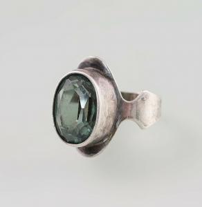 8425099 835er Silber Ring Grüner Spinell Gr.54/5