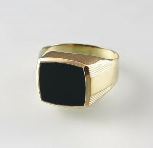 8425174 333er GG Gold Herren Ring Onyx Gr.51,5