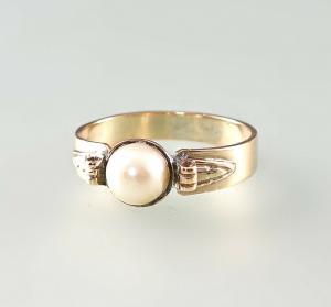 8425047 333er GG Gold Ring Zuchtperle Gr.59