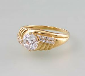 8425075 585er GG Gold Ring Zirkonia Gr.66